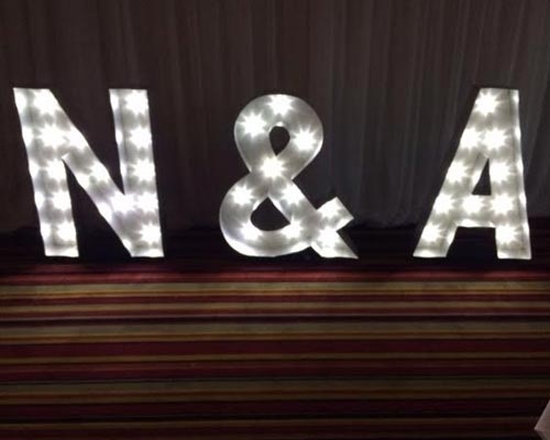 Personliased Light up Letters Tyne and Wear