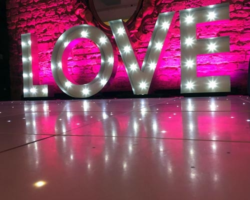 Wedding Light Up Letters Tyne Events