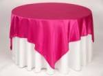 Table Cloth Hire - Fuscia overlay