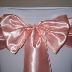 Sash Hire Peach Satin